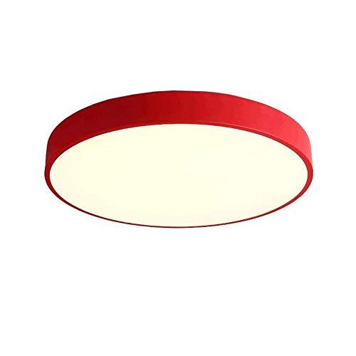 Soffitto delle luci del bagno Lampada da soffitto a LED a colori creativi per interni rotonda soggiorno studio camera da letto illuminazione plafoniera - rosso