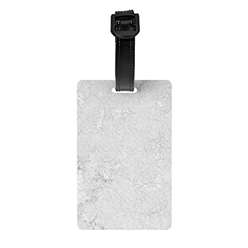 Paulinemoss - Etiqueta de equipaje para protección de privacidad, papel blanco viejo