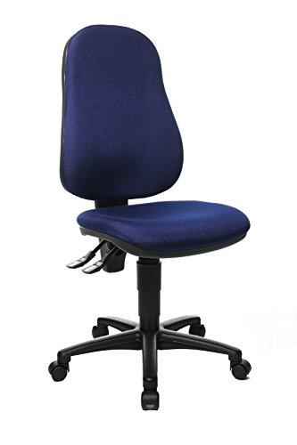 Topstar Point 60, Bürostuhl, Schreibtischstuhl, Stoff, blau