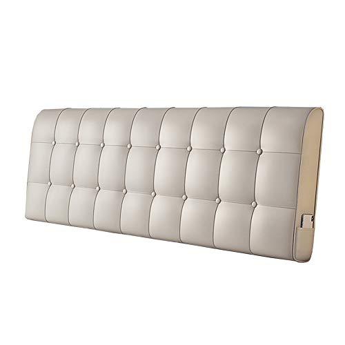 Cuscino per Letto Grande Senza Testiera, Grande Cuscino per Letto Matrimoniale Lavabile, 6 Colori / 5 Misure Disponibili CONGMING (Colore : Bianco Crema, Dimensioni : 180cm)