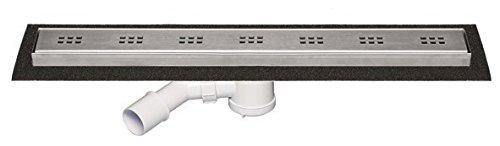 'aquaSu® Duschrinne Flana, Ohne Abdeckung, Passend zum Flana Duschboard, 800 x 90 mm, Bad, Badezimmer