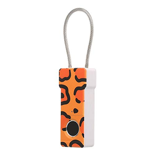 Sin llave del candado de la huella digital inteligente táctil del dedo cerradura biométrica Desbloquear Desbloquear impermeable USB de carga del equipaje del recorrido de la maleta (Color : 02)