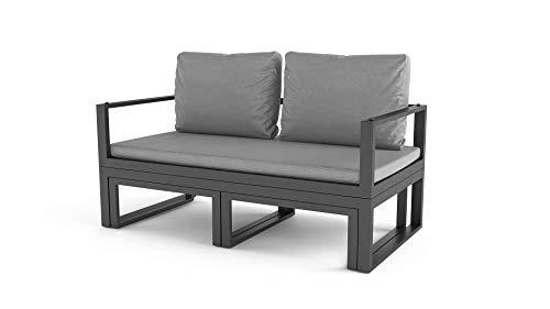 ARTELIA Cassio Street Collection Loungemöbel Personen - Modulares Premium Gartenmöbel Set für Terrasse, Garten und Wintergarten, Terrassenmöbel Anthrazit - 4