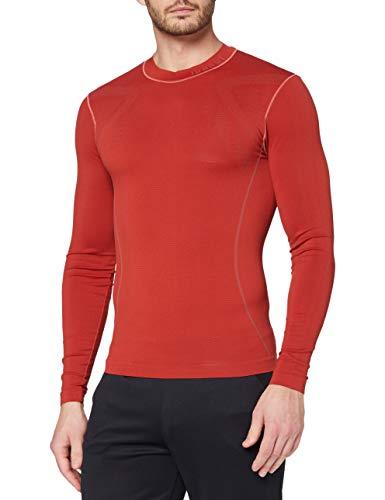 Luanvi 06982_0022, T-Shirt Termica A Maniche Lunghe con Ampia Gamma di Colori Uomo, Rosso, M