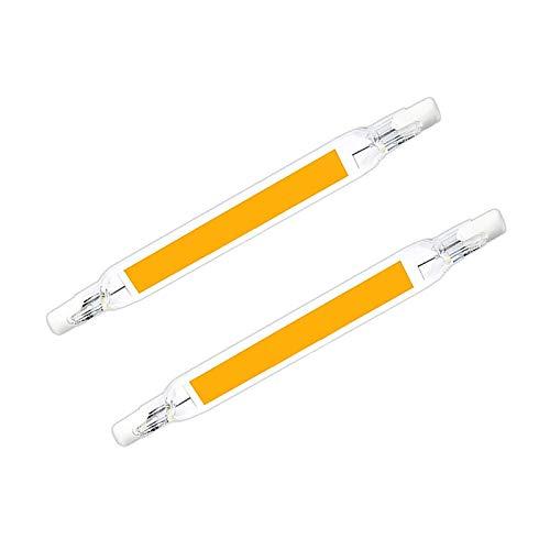 Konesky R7S Bombilla LED 118mm 10W Bombilla halógena lineal, LED COB R7S, Bombillas Reflector Bombillas de doble terminación J118 [Clase de eficiencia energética A], pack con 2 unidades