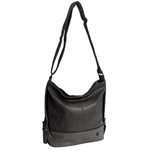 Jennifer Jones Moderne XLHandtasche Schultertasche Umhängetasche Shopperbag für Sport Freizeit Arbeit - präsentiert von ZMOKA (Grau)