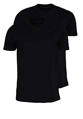 Marvelis T-Shirt schwarz V-Ausschnitt 2817/00/68, L - 2er Pack