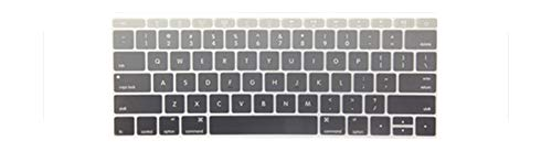 KASHINO Gradient Color Silicon Keyboard Cover Laptop Skin Notebook Protector For Macbook Retina 12-Gray