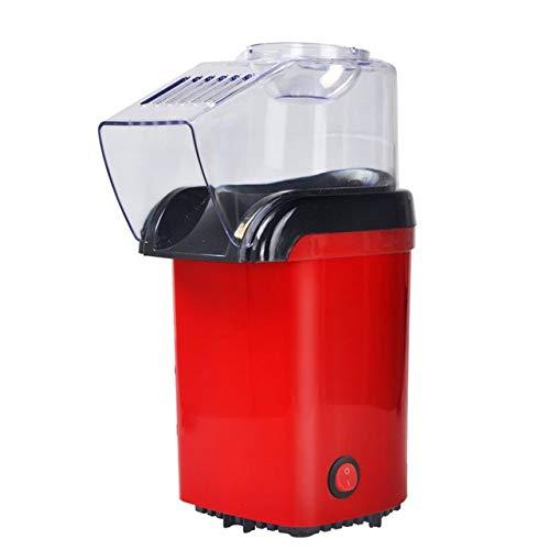 FKJYUF Popcorn-Maschine, 1200 W Popcorn-Maschine, ölfrei, BPA-frei, sehr geeignet für Familien, Widder, Party, Zeit, Freizeit und Unterhaltung (rot)