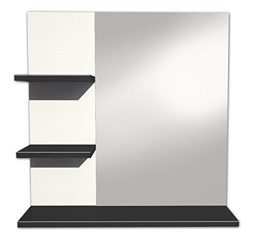 Berlioz Creations MMAUB Specchio per sala da bagno, brillante, Altro, Nero brillante, 60X60