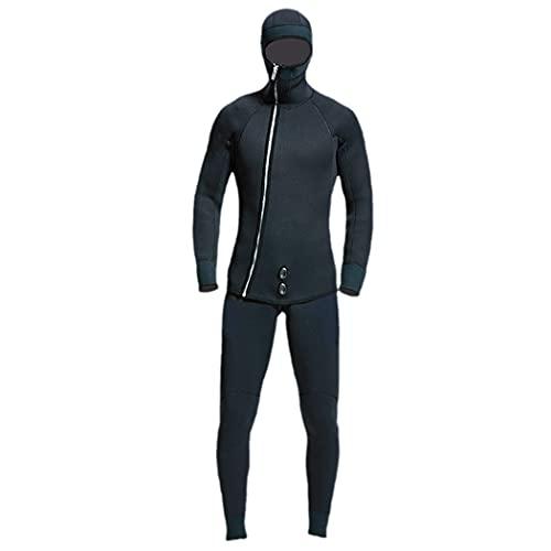 LIOPJH Trajes de neopreno de 7 mm para hombre, traje de buceo de pesca submarina, caza de pesca, traje de neopreno cálido, ropa impermeable de cuero suave