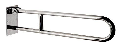 Bisk 04787 Pro Barra abatible de Acero Inoxidable, 70 x 20.2 x 10 cm 25 mm 700 mm, Acabado Cromado
