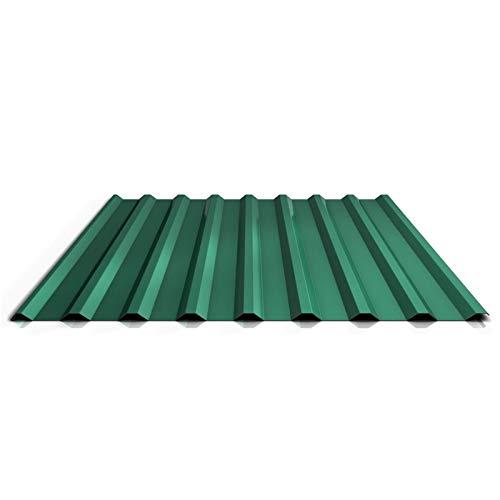 Trapezblech | Profilblech | Dachblech | Profil PS20/1100TRA | Material Stahl | Stärke 0,75 mm | Beschichtung 25 µm | Farbe Chromoxidgrün