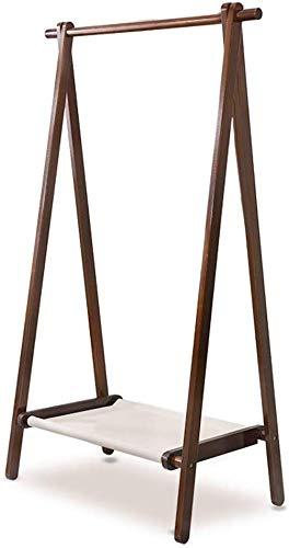 Kleerhangers vloer garderobe eenpolig opknoping roede afneembaar en wasbaar stof opberglaag drie maten van protocollen/noten (kleur: bruin, maat: 148,5 & times; 75 cm) 148.5×75cm bruin