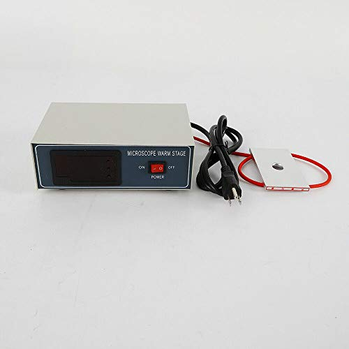Microscope Warm Stage,Digital Thermostat Microscope Heating Plate Warming Board Desktop Slide Warmer Temp Control 110V 32W