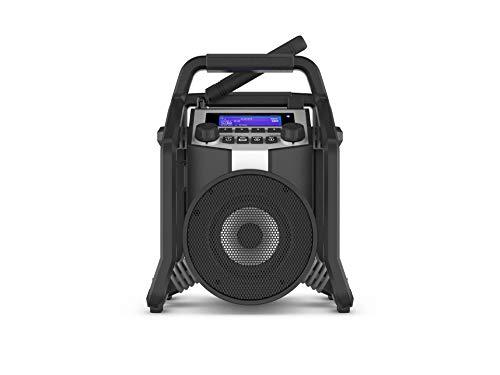 PerfectPro Baustellenradio Powerplayer, DAB+ und UKW-Empfang, Bluetooth, AUX und USB-Eingang, Akku integriert, Stoßfest, IP65, PP800L