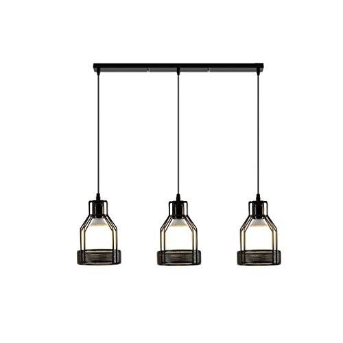 Tablelamp-SZQ kroonluchter van metaal, zwart, 1 kop/3 hoofd kleine hanger licht warmwit oogbescherming lamp hanglamp vitrine Vestiaire plafondlampen