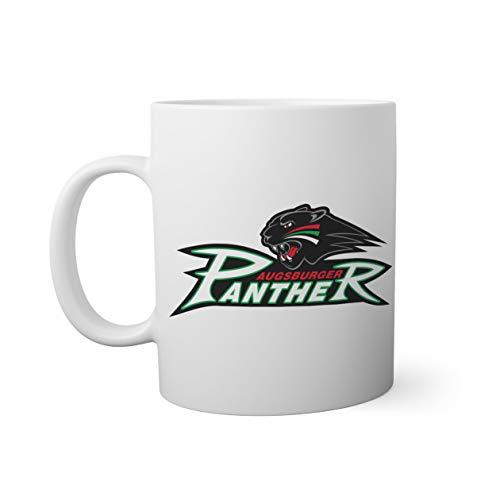 Ice Hockey Team Augsburger Panther Eishockey Weißer Becher Mug | Lustige Neuheit Tassen für Kaffee Tee 330ml