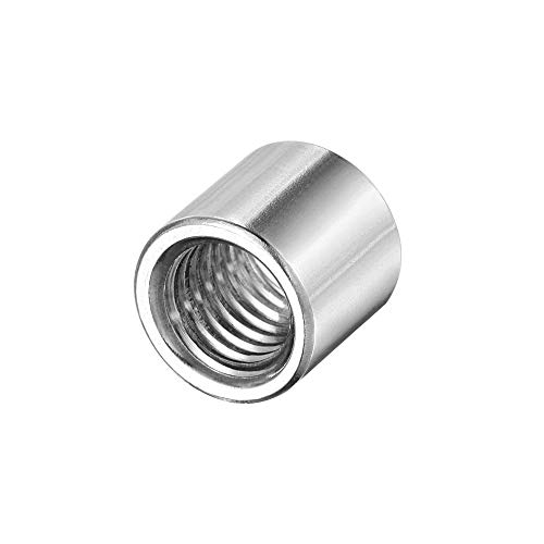 uxcell Round Weld Nuts, M10 x 14mm x 13mm Weld On Bung Female Nut Threaded - 201 Stainless Steel Insert Weldable