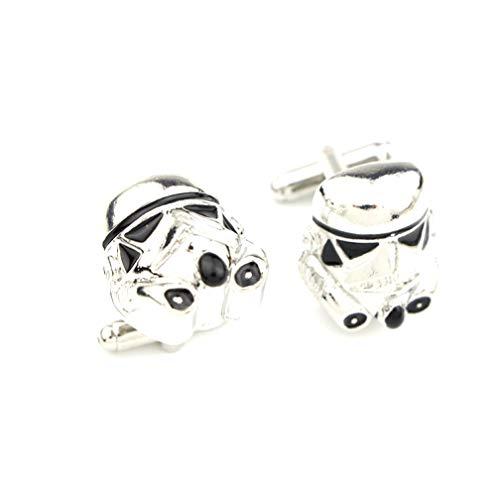 Manschettenknöpfe Star Wars Galactic Empire Imperial Storm Trooper Maske Manschettenknöpfe versilbert