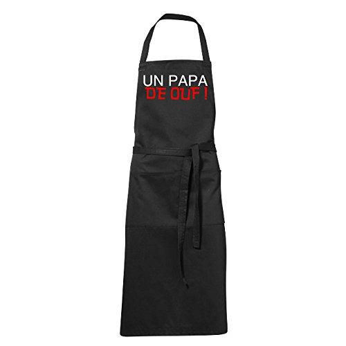 stylx design Tablier humoristique de cuisine noir papa de ouf