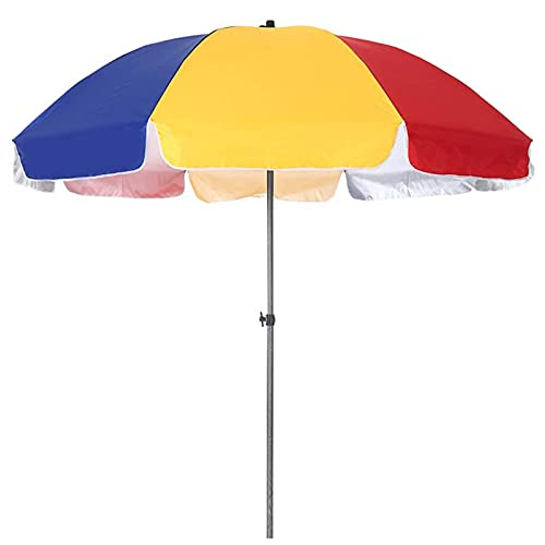 WXHXJY Sombrilla De Playa Sombrilla De BalcóN Colores del Arco Iris, Aislamiento TéRmico, Resistente A La Lluvia, ProteccióN UV, Parasol Compacto para CéSped, Terraza, Patio Y BalcóN,2m