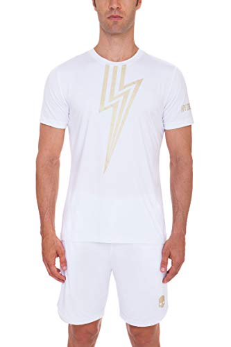 T Shirt Hydrogen Tech Flash White / Gold - L