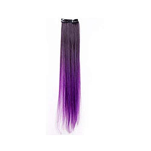 Zwei kartenhaargefärbte Perücken ohne weibliche glatte Haarfarbe, dunkelviolett schwarz gefärbt