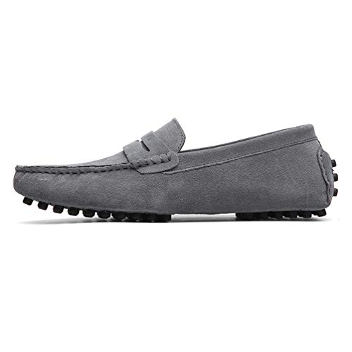 Zapatos de Lona de los Hombres pie Perezoso para Zapato Plano bajo de Ocio de la Ciudad Mercado de Cuero sin Ribete de Encaje