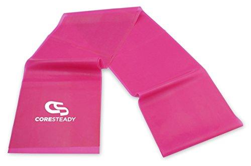 Coresteady Fasce di Resistenza Terapeutiche | Bande Fitness di Alta qualità per Pilates, Yoga, Allenamento di Forza, Fisioterapia e Riabilitazione - Ideali per Uomini e Donne