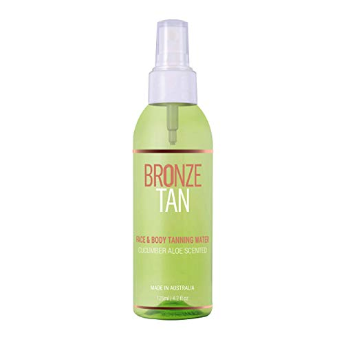 Bronze Tan Face Tanning Water Spray Self Tanner for a Gradual and Natural Sunless Tan Ideal for Oily and Acne Prone Skin 125ml Best Self Tanning Water (4.2 fl oz)