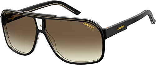 Carrera Grand Prix 2/S 0807/HA 64M Black/Brown Gradient Rectangle Sunglasses For Men For Women+FREE Complimentary Eyewear Care Kit