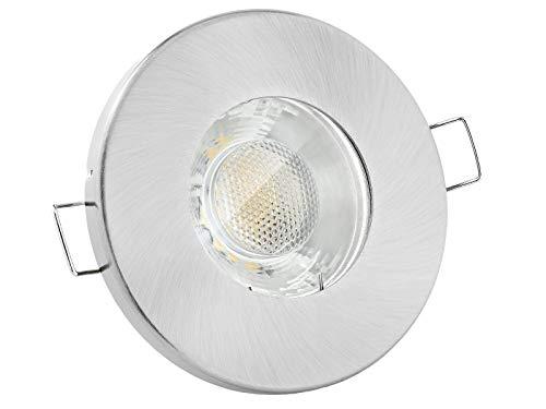 linovum® Feuchtraum LED Einbaustrahler 3W flach IP65 mit Wasserschutz für Bad, Dusche oder Außen neutralweiß 4000K