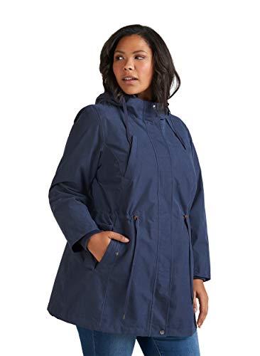 Zizzi Damen Große Größen Atmungsaktive wasserdichte Jacke mit Kapuze Gr 42-56