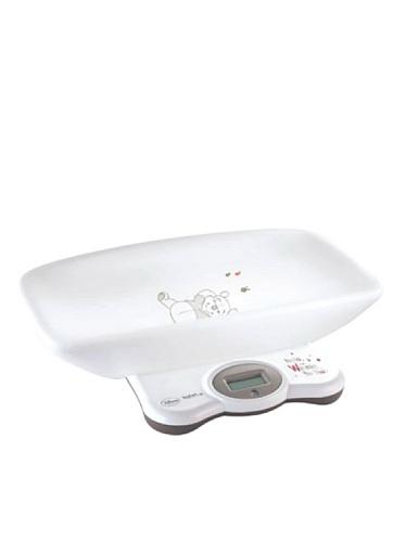 Tefal Baby Waage Elektronische Personenwaage LCD–Badezimmer Skala (weiß, weiß)