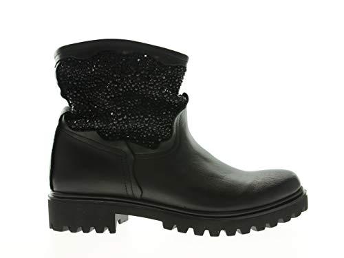 Alberto Venturini Damen Stiefeletten Absatz Boots, Größe:38, Farbe:Schwarz
