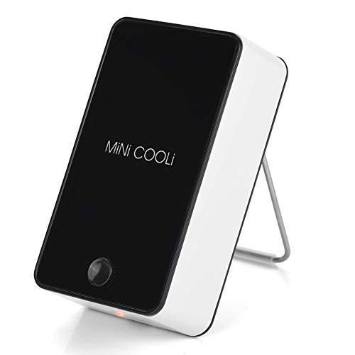 Zopsc Mini Aire Acondicionado portátil USB Recargable Handheld Air Cooler Air, Salida de Aire Grande Que Ofrece un Viento Fuerte y Fresco.Azul/Negro Enfriador de Aire Aire Bajo Ruido(Negro)