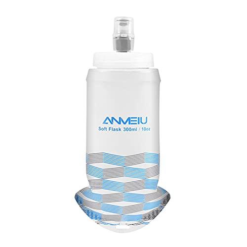 300ML Bottiglia di Acqua TPU Morbido Food-grade Pieghevole In Esecuzione Fiaschette, Pieghevole Soft Flask Bottiglia di Acqua Bottiglia Senza BPA Sport Bottiglia Flessibile