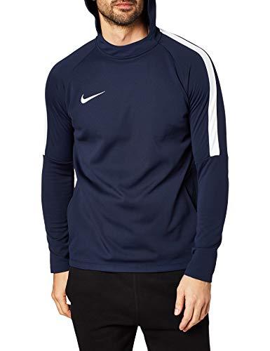 Nike Herren Dry Academy Hoodie, Blau (Obsidian/White/White), L