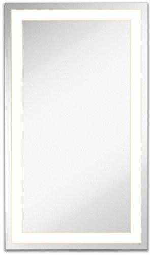Hamilton Hills Lighted LED Frameless Backlit Wall Mirror | Polished...