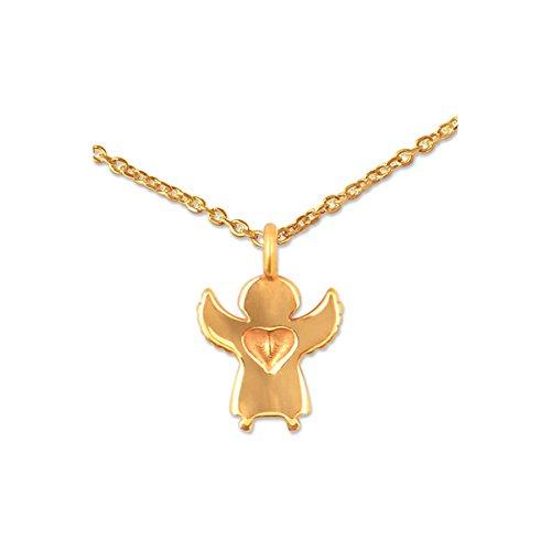 Silberwerk Halskette Supermini Schutzengel Gold