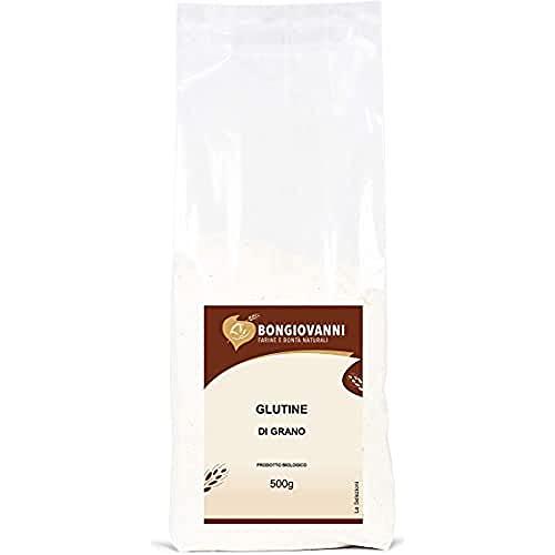 Glutine di Grano Bio - Adatto per la Preparazione di Seitan, Prodotti da Forno Proteici o per Rafforzare Farine Deboli - Formato da 500 Grammi