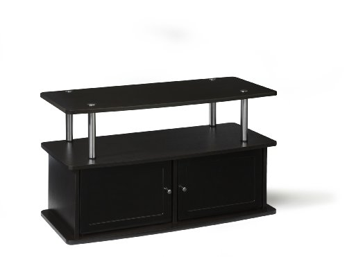 Convenience Concepts Designs2Go TV Stand with 2 Cabinets for Flat Panel TV#039s Up to 36Inch or 80Pound Dark Espresso