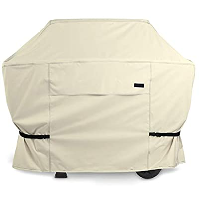 NettyPro Patio Gas BBQ Grill Cover 60 Inch 3-5 Burner Waterproof Heavy Duty Barbecue Cover, Fits Weber Char-Broil Nexgrill Brinkmann Grills and More, Beige