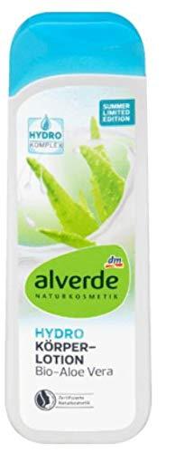 Hydro Körperlotion Mit Bio Aloe Vera - alverde NATURKOSMETIK - Für jeden Hauttyp (Auch für trockene und sehr trockene Haut) - 250 ml