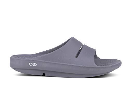 OOFOS Women's Unisex Slide Sandal,Slate,7 B(M) US Women / 5 D(M) US Men
