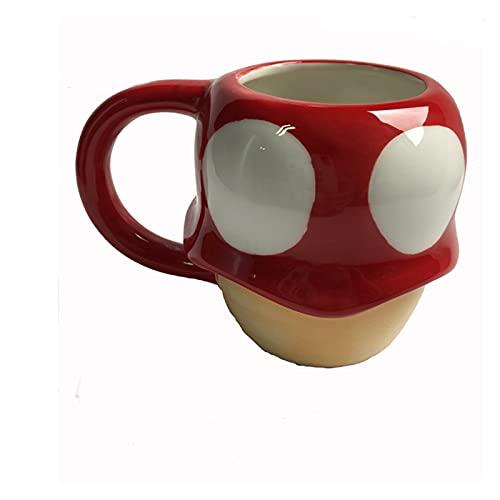 LUKJOPAN Taza para Beber Taza de café Creativa 3D de la Seta de la expresión de la Historieta Taza de café de la Bebida de cerámica para el Regalo de cumpleaños (Farbe : Mushroom)