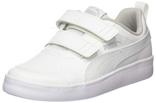 PUMA Unisex-Kinder Courtflex V2 V Ps Sneaker, Weiß White-Gray Violet, 30 EU
