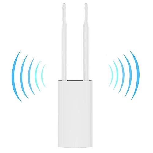 Outdoor WiFi Range Extender,IP66 Waterproof, High Power 300Mbps 2.4Ghz WiFi Extenders Signal Booster, Ideal for Garden WiFi Extender