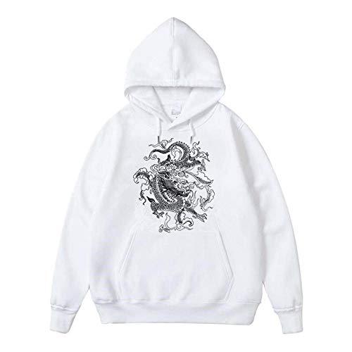 Hoodie Sweatshirt Frauen Sweatshirt Hoodie Niedlicher Hip Hop Kawaii Harajuku Drache Koreanisch Lustige Top Vintage T-Shirt Print Punk Kleidung L 9